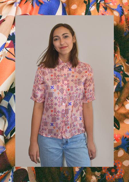 Apalma Stars Button-up Shirt - Pink