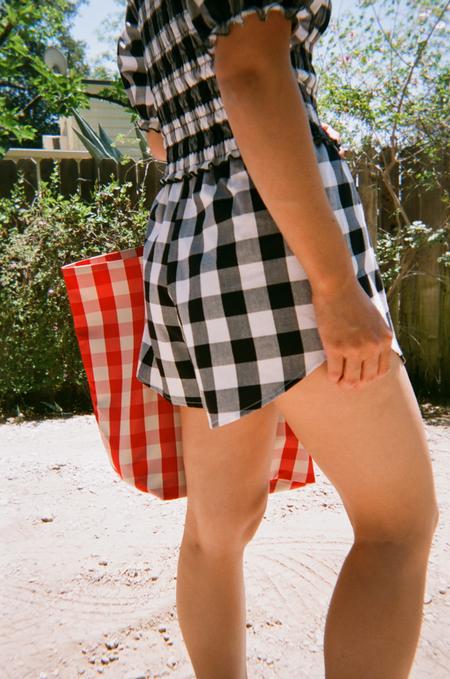 Lisa Says Gah For Garmentory   Capri Linen Short - Black + White Gingham
