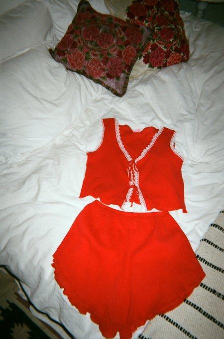 Lisa Says Gah Pajama Set - Red