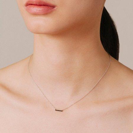 Adina Reyter Pave Bar Necklace - Black Diamond
