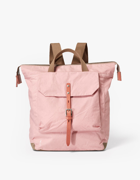 Ally Capellino Frances Waxy Small Rucksack - Chalky Pink