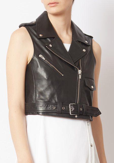 Veda Leather Brazil Vest - Black