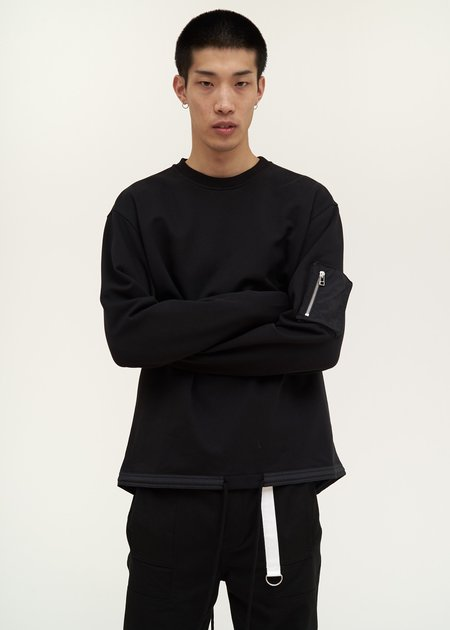 Helmut Lang Fishtail Crewneck - black