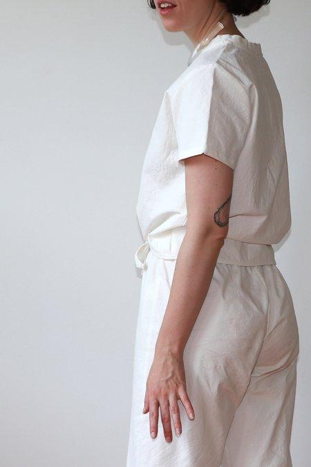 Priory Tie Tee - white