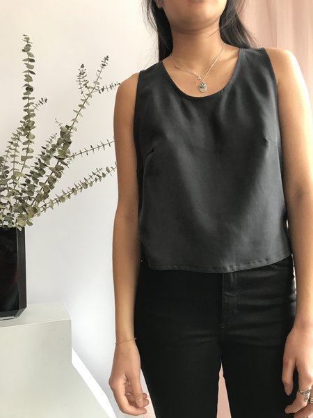 Eve Gravel Firefly Sleeveless Top - Noir