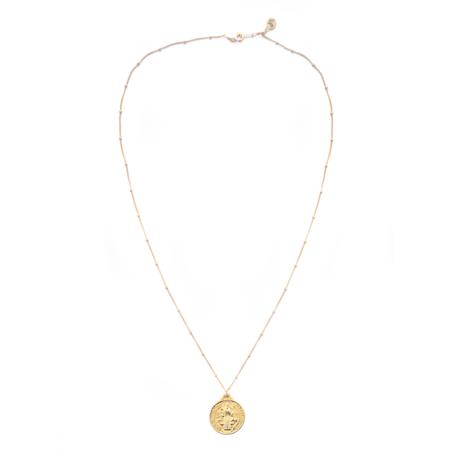 MOD + JO Saint Benedict Coin Pendant - Gold