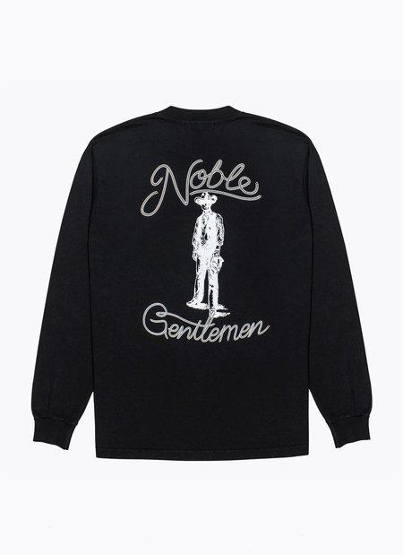 Noble Gentlemen Cowboy Long Sleeve Tee - BLACK