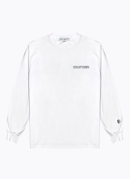 Noble Gentlemen Stampede Long Sleeve Tee - WHITE