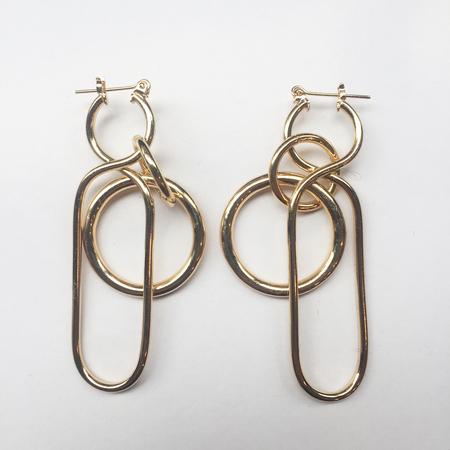 A Détacher Fern Earrings in Gold
