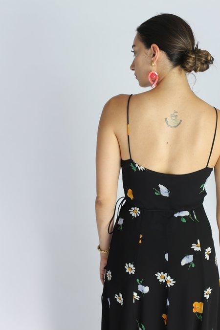 Ganni Dainty Georgette Strap Dress