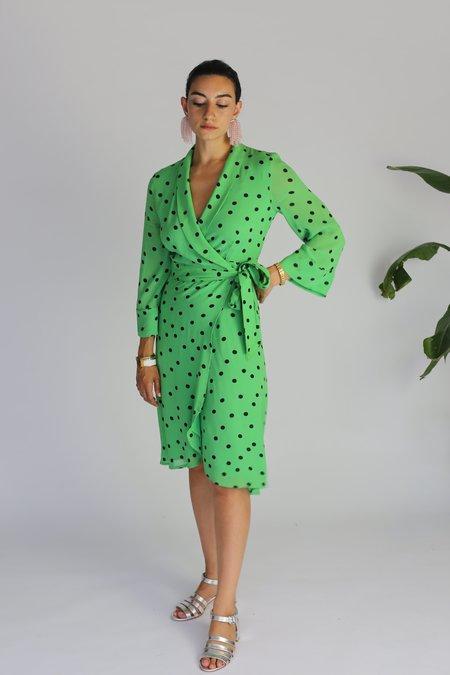 Ganni Dainty Georgette Wrap Dress