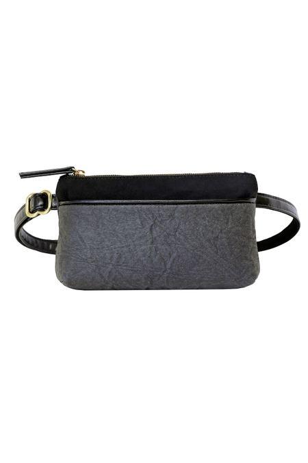 HFS Collective Pinatex Bum Bag - grey/black