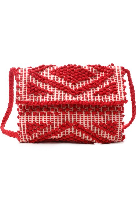 Antonello Tedde Suni Rombi Clutch & Cross Body Bag - Red