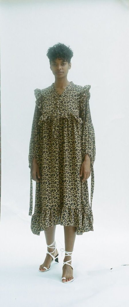 Prett Long Sleeve Cheetah Dress