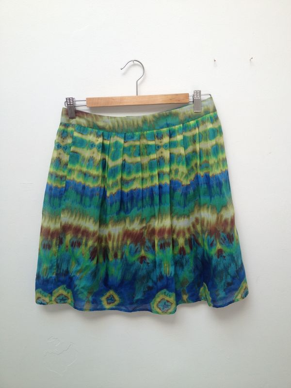 Wren Pleated Tie Dye Skirt