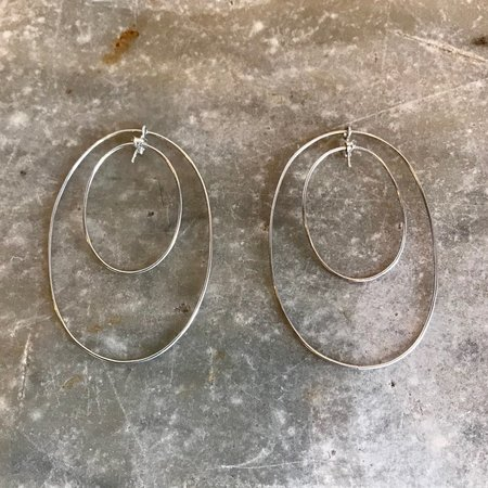 Better Late Than Never Front and Back Hoops - Silvere