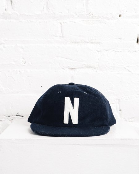 Norse Projects Winter Wool 6 Panel cap - Navy