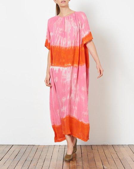Raquel Allegra Reversible Flutter Sleeve Dress - Grapefruit Tie Dye
