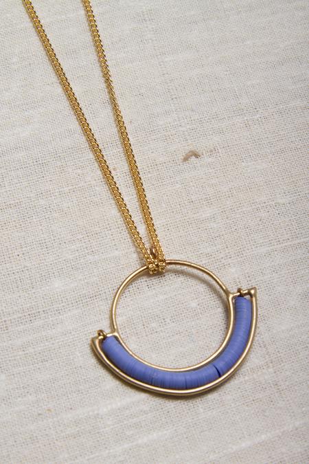 Alchemilla Portal Hoop Necklace - Iris