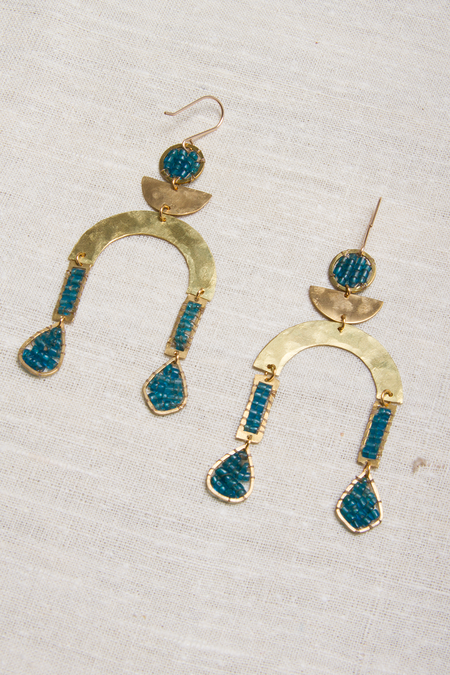 Alchemilla Temperance Earrings - Aquamarine