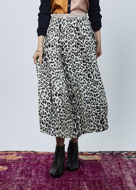 La Prestic Ouiston Gabrielle Pleated Skirt - Panther/Hearts