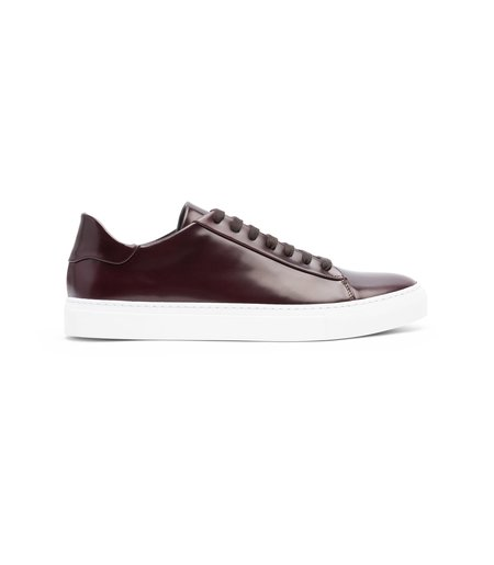 Wings + Horns Box Calf Court Low Sneakers - Espresso