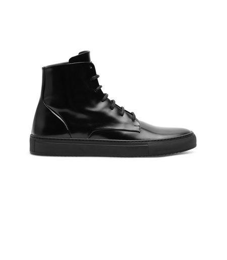 Wings + Horns Box Calf Service Hi Sneakers - Black