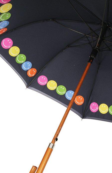 RON HERMAN Exclusive RH Smiley Umbrella - Navy