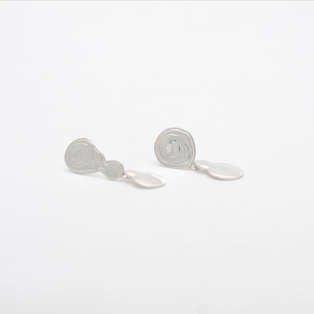 Leigh Miller Double Drop Earrings - Sterling Silver