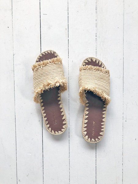 Folk Fortune Raffia Handmade Sandals