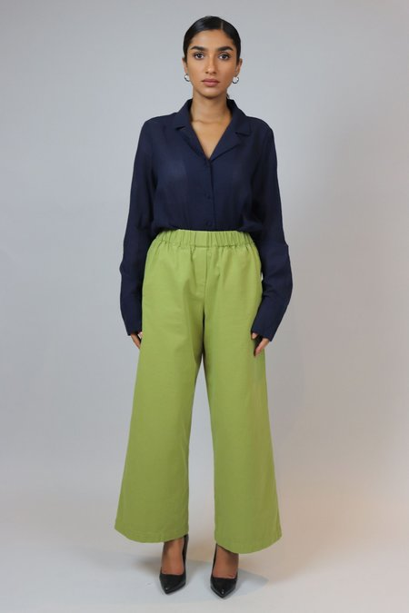 W A N T S High Waisted Pants - Green