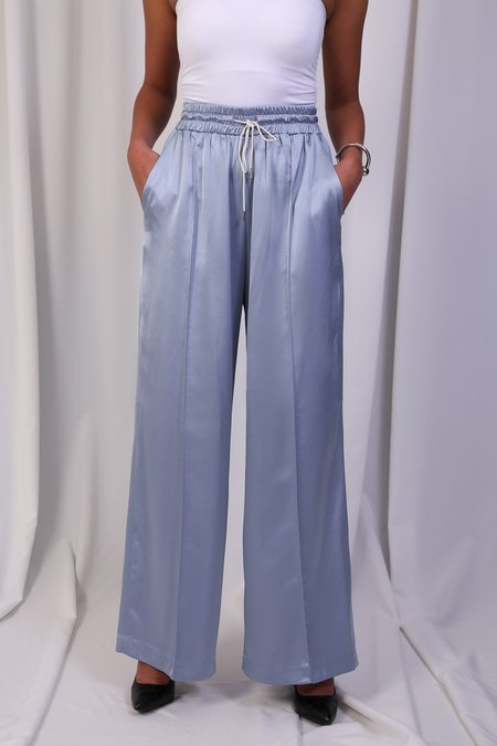 W A N T S Silk Track Pants - Soft Blue