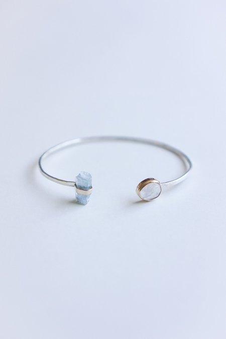 Melissa Joy Manning 14K Gold & Sterling Silver Aqua Crystal & Moonstone Bracelet