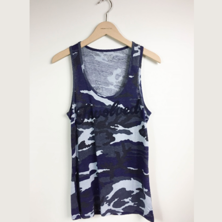 Majestic Scoop Neck Tank - Camo Print