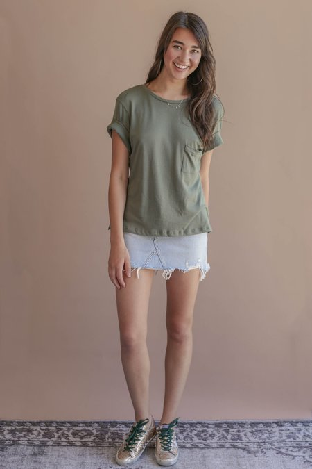 LNA Pocket Brushed Tee - Kalamata