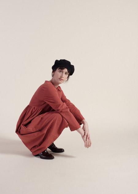 Sunja Link Cotton Sheeting Tunic Dress - Cinnamon