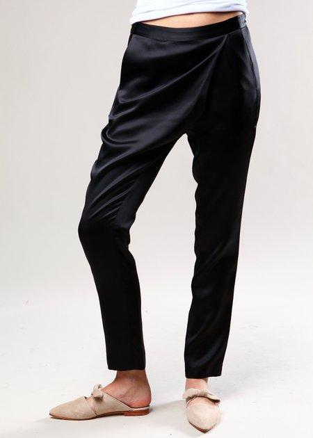 Michelle Mason Wrap Pant - Black