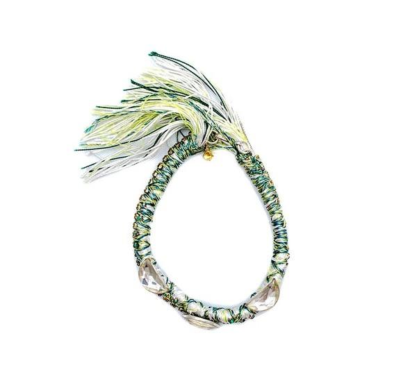 Alyssa Norton Braided Bracelet in Neon Green