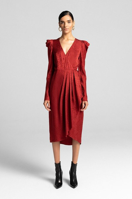 A.L.C. CAROLINA DRESS - CRIMSON