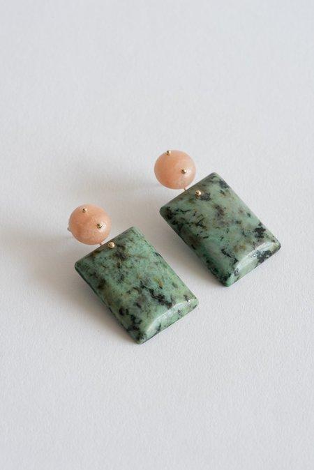 Jessica Winzelberg Mobile Earrings - Aventurine/African Jasper