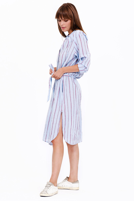 Xirena Keats Dress - Blue Beckett Stripes