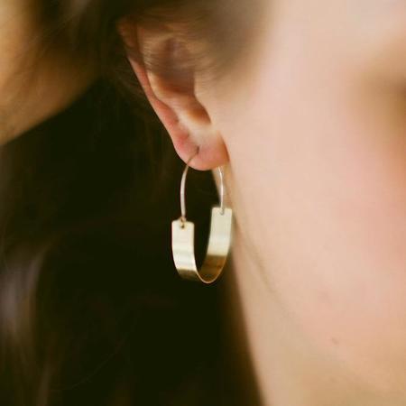 Earthen Vessel Valley Hoop Earrings