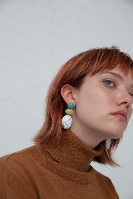 Jessica Winzelberg Mobile Earrings - Amazonite/Jade/Howlite