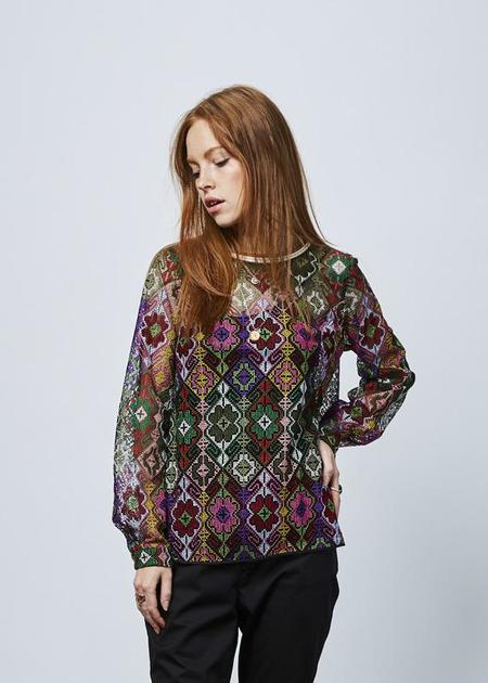 Odeeh Needlepoint Top with Slip - Multicolor