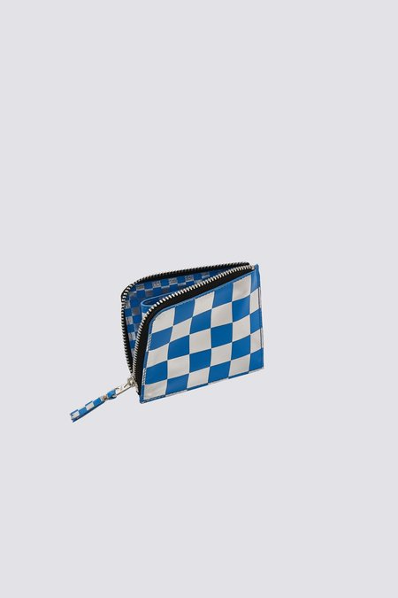 Comme des Garçons Leather Optical Wallet - Blue