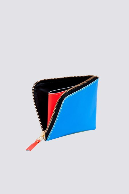 Comme des Garçons SA-3100SF Super Fluo Half Zip Wallet - Blue/Green
