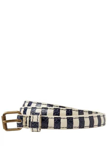 Maison Scotch Stripe Belt - Blue/white