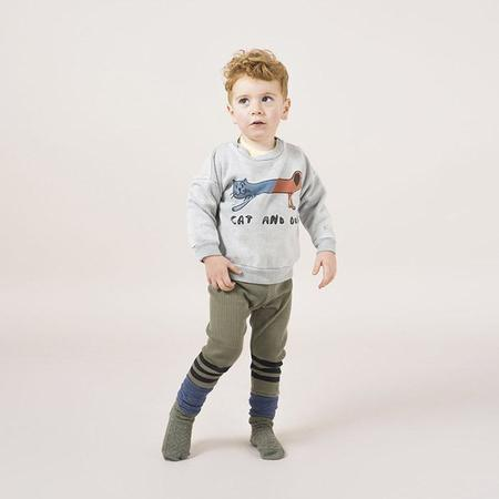 KIDS Bobo Choses Baby Sweatshirt - Grey With Cat And Dog