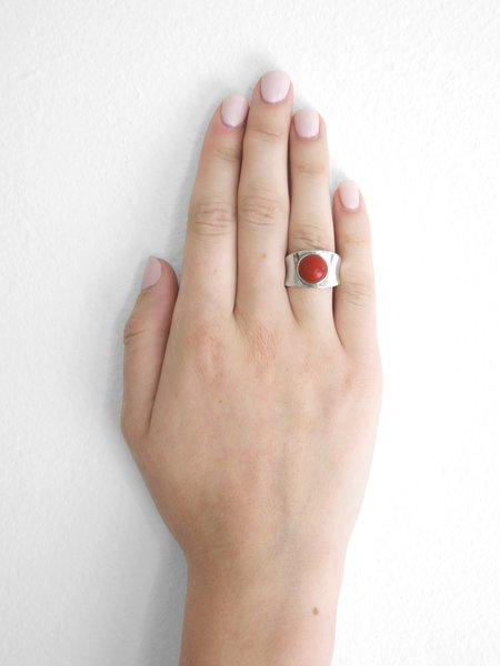 IGWT Talisman Concave Ring - Red Jasper