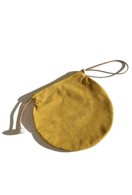 jujumade suede circle tote - mustard